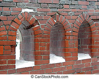 Bridge windows - Artistic loopholes on a bridge near the...
