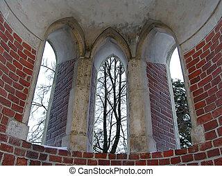 Bridge windows 2 - Artistic windows on a bridge near the...
