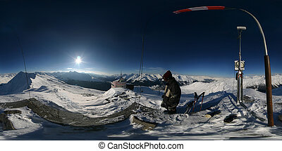 Alpine Spherical Pan - 360 degree spherical panorama from...