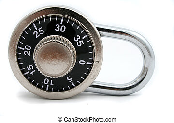 combination lock - isolated combination lock