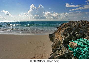 Oistins On Horizon - Dover beach, Barbados. Sept.