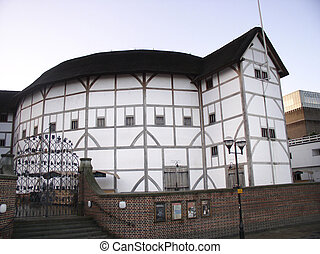 Shakespears Globe - The famous theatre by the bank of the...
