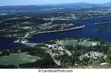 The Queens view in Hole in Buskerud county in Norway