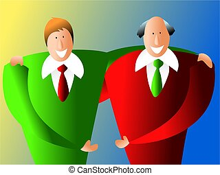 business partners - happy business partnership
