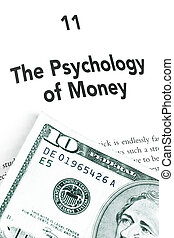 Psychology of Money - Dollar bill and book page