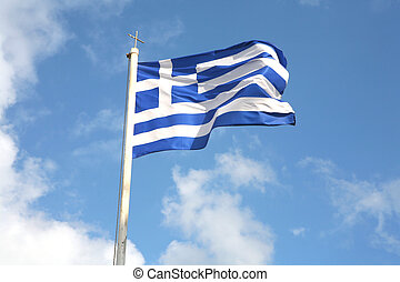 Greek flag - The national flag of Greece.