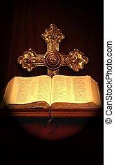Faith - Bible and cross.