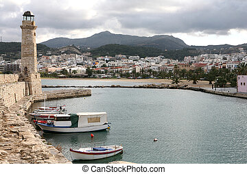 Rethymno town - A view of Rethymno, Crete, from the Venetian...