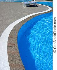 Pool2 - Wavy poolside lines