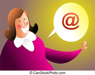 email me - woman asking to be contacted by email