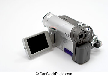 Camcorder with LCD opened