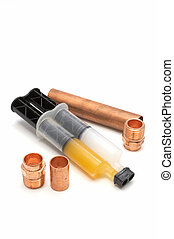 Plumbing gear - Copper pipe fittings and copper epoxy...