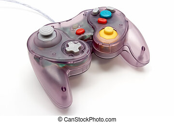 Game Controller - Translucent purple game controller