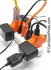 Overloaded electrical power strip