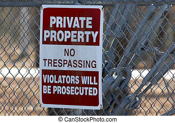 Private Property - Private property sign