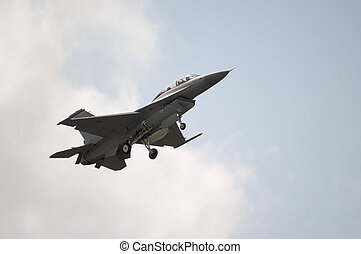 F-16 Jet Landing - An F-16 Jet coming in for a landing
