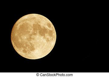 naranja, luna