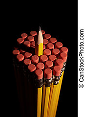 One in a Crowd - Cluster of pencils