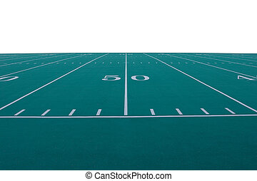 Football Field - American football field at the 50-yard line...