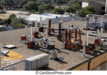 Laboratory Rooftop - Heavily ventilated laboratory rooftop