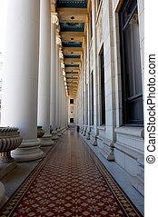 Decorative Hall - Hallway with ornate ceiling, floor, and...