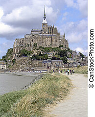Mount St Michael - The epic monastry on top of a granite...