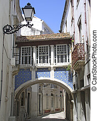 Tiled archway - Pretty street in Portugal