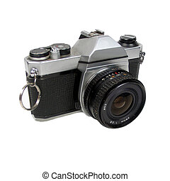 35mm SLR - , a35mm SLR over white (note-resized-resubmit)