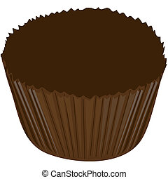 Chocolate candy wrapper - Illustration of a chocolate candy...
