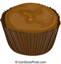 Chocolate candy1 - Illustration of a chocolate candy.