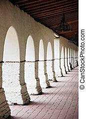 Mission Portico - Mission San Juan Bautista portico