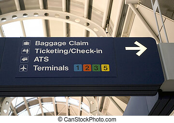 Airport signs - Chicago O\\\'Hare International Airport