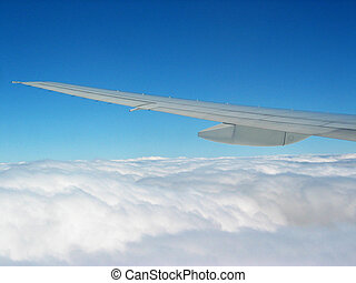 Clouds From Plane - Air Travel - Flying Above Cloud