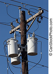Transformers - Utility pole with transformers
