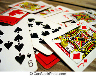 Playing Cards - Scattered Playing Cards