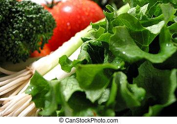 新鮮, 蔬菜, 潮濕
