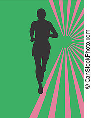 Athlete - A vector illustration of a man running