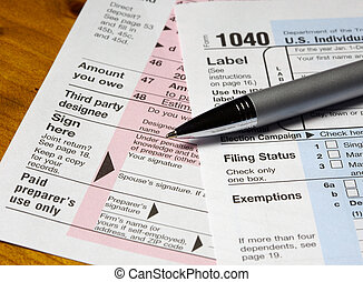 Tax Forms & Pen