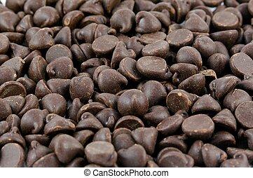 Dark Chocolate Chips Background Texture