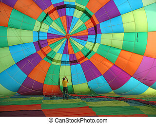 Hot Air Balloon - Inside the canopy of a hot air balloon
