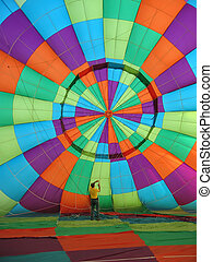 Hot Air Balloon 2 - Inside the canopy of a hot air balloon
