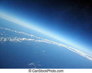 Curvature of the Earth - Earths atmosphere and space with...