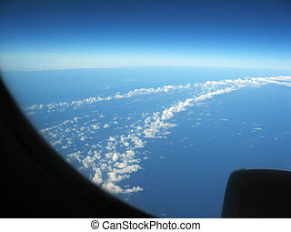View from the Window - View from the plane, beautiful blue...