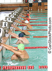 Start of the backstroke