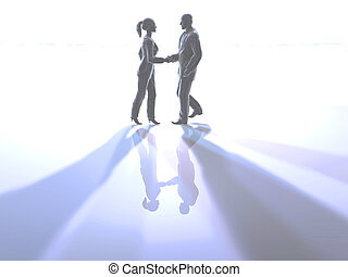 Handshake - 3D Illustration.