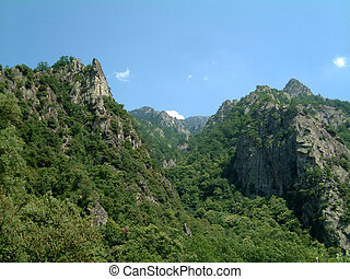 Craggy gorge in the French Pyrenees