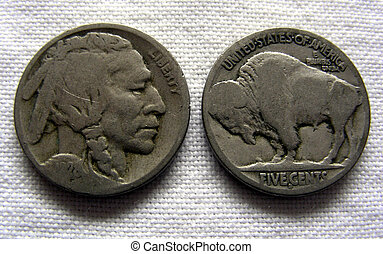Buffalo Nickel Indian Head, US Currency