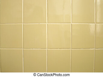 Tile Background - A background of greenish yellow bathroom...