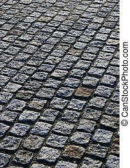 Cobbled paving - Concept picture of a cobble stone pavment