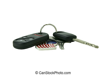Car keys with remote access - isolated